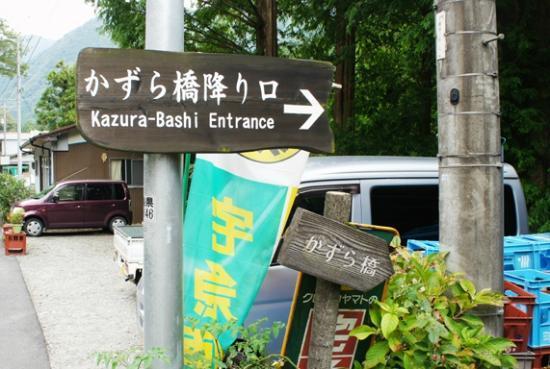 Iya Kazura Bridge: バス停からかずら橋へ一番の近道はここから