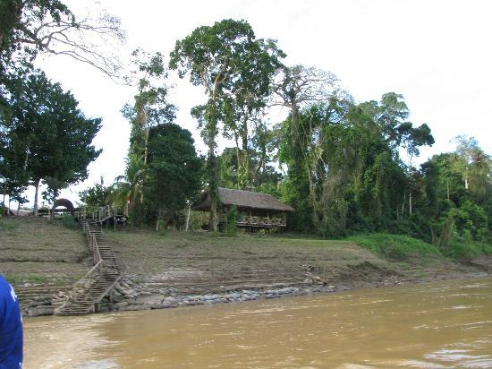 Ecoamazonia Lodge: View from boat pulling into lodge