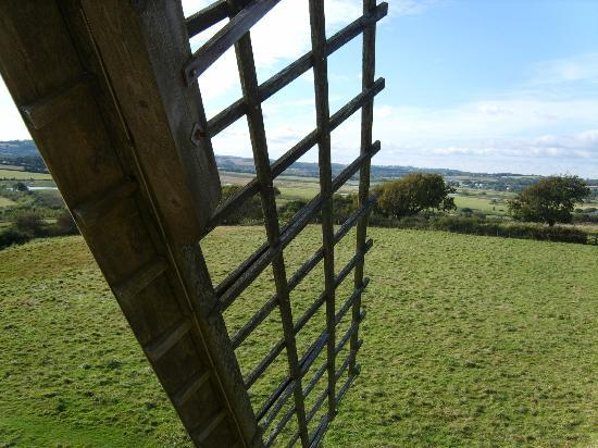 Bembridge Windmill: View from the top through one sail