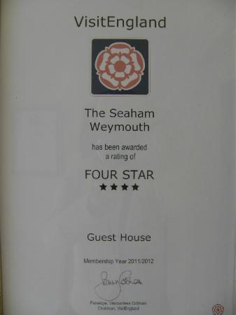 The Seaham Weymouth: Award