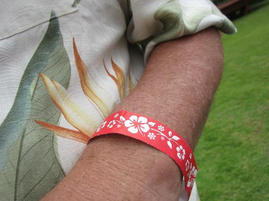 Island Breeze Luau: This arm band allows you to bypass the long line and get a reserved seat.
