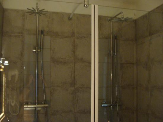 Le Relais Des Chartreuses: Large double shower in bathroom