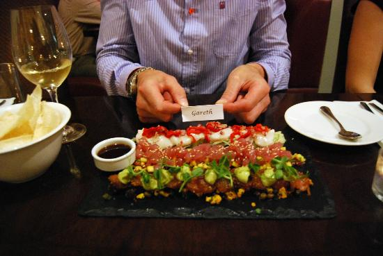 Arch Bistro: ceviche, tuna tartare, salmon pastrami