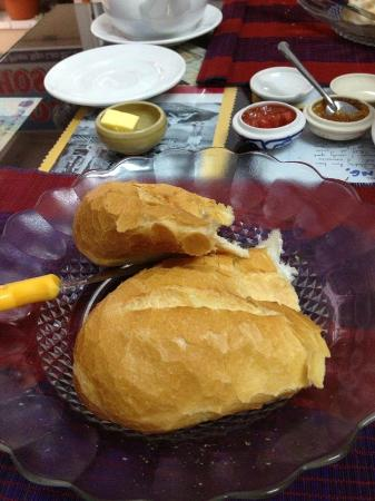Long Hostel: French bread served with butter and their home made jam