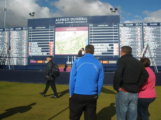 Carnoustie Golf Links: The Dunhill Classic score board
