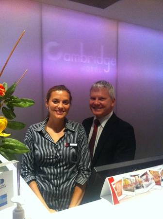 Cambridge Hotel Sydney : Welcoming, Organized staff-Manager Gary and front desk Marina
