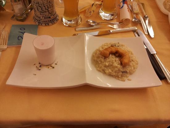 Hotel Abano Terme Cristoforo: Risotto con Sorbetto
