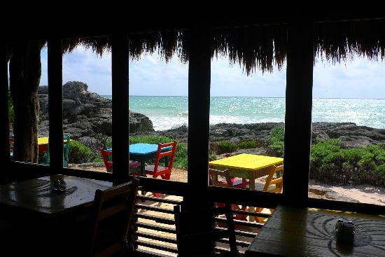 Zamas: View from inside the restaurant