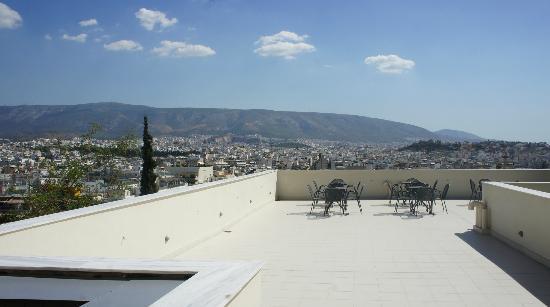 Acropolis Hill Hotel: hotel terrace