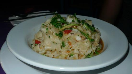Seafood pasta at Zamas