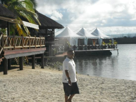 Rasoi by Vineet at Le Saint Geran: The restaurant with the over- the- sea area.