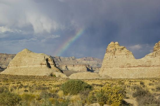 Amangiri: Rainbow over Mesa/ view from room