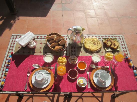 Riad Sable Chaud: Colazione in terrazzo