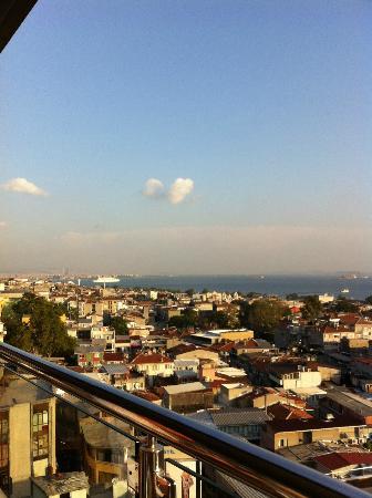 Hotel Venera: Utsikt från Black Bar på våning 9 