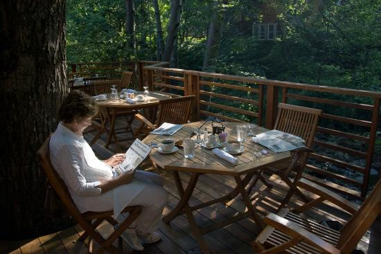 Ashland Creek Inn: Breakfast by the creek
