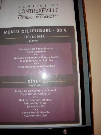 Le menu di t tique picture of hotel club cosmos for Menu dietetique