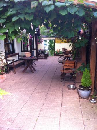 The Butterleigh Inn: The covered vineyard alfresco area outside the main establishment