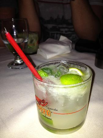 Churrascaria Plataforma: Try a Caipirinha! Fabulous drink with oil crushed from the lime skin!!