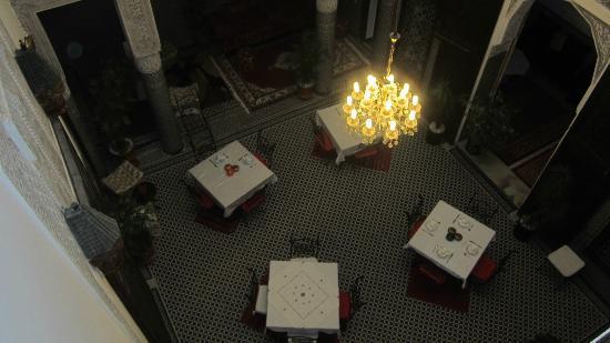 Riad Youssef: Vue de l'étage