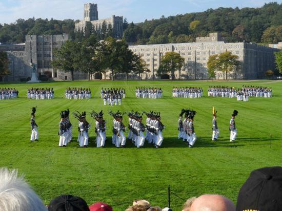 United States Military Academy: Cadets marching on The Plain