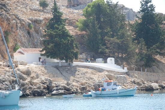 Agios Pavlos Beach (Saint Paul): The little church in St. Pauls Bay
