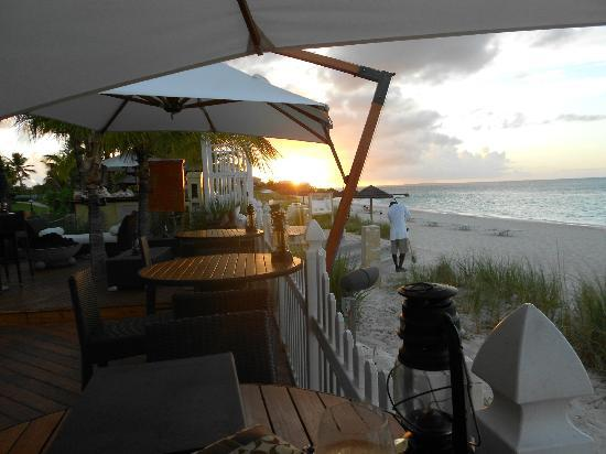 Seven Stars Resort & Spa: At the Deck - great place to enjoy dinner while watching the sunset