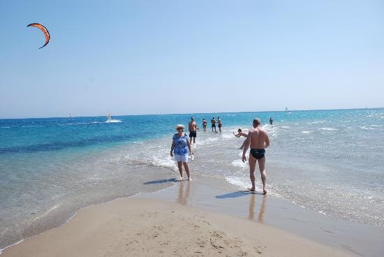 Prasonisi Beach: Where 2 seas meet - The Aegean & The Med