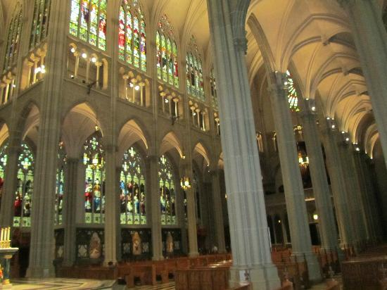 Cathedral Basilica of the Assumption: Multiple stained glass windows