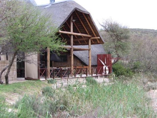 Nyaru Private Game Lodge: The Lapa breakfast deck.