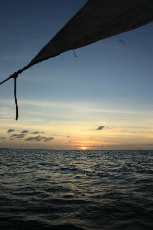 Fundu Lagoon: Sunset from the Dhow