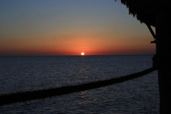 Fundu Lagoon: Sunset from the Jetty Bar