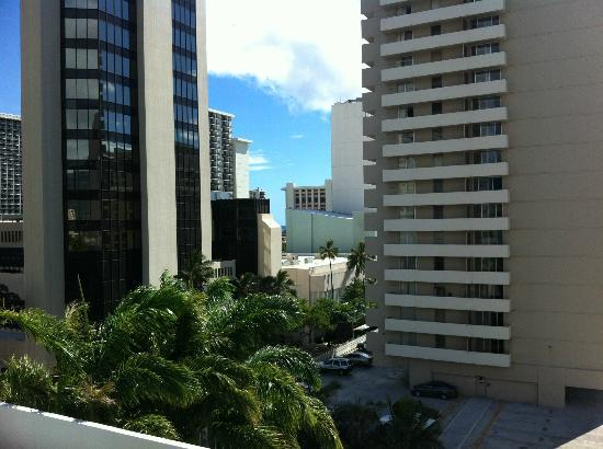 "Royal Kuhio Resort: This is the ""partial ocean"" view"