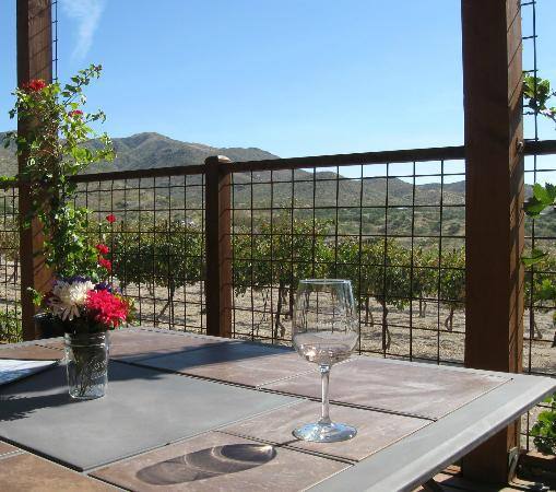Charron Vineyards & Winery: another view from our table on the deck