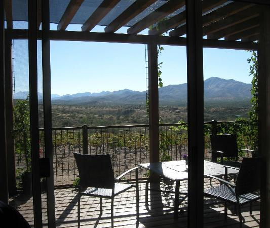 Charron Vineyards & Winery: view from our indoor table