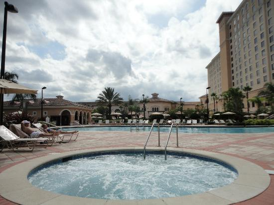 Rosen Shingle Creek: One of two hot tubs and one of the four pools.