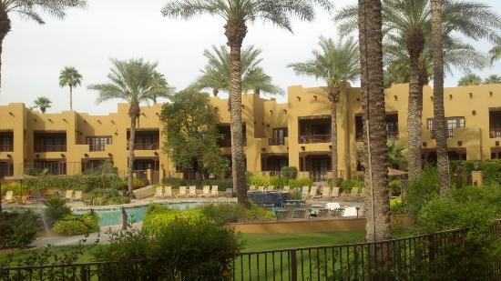 The Wigwam: View of the Oasis suites & pool