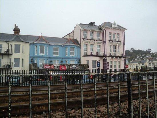 The Marine Tavern: Marine Tavern - blue building on the left of the block
