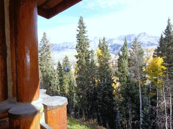 Mountain Lodge Telluride: view off balcony