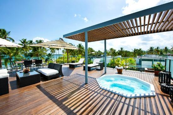 Rooftop terrace with jacuzzi picture of sublime samana for Terrace with roof