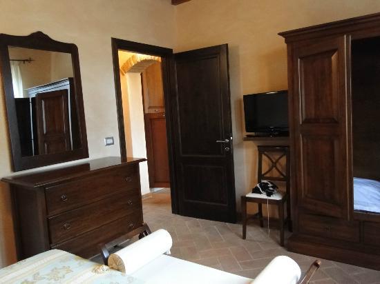 Tramonto su Assisi: camera da letto