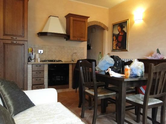 Tramonto su Assisi: cucina