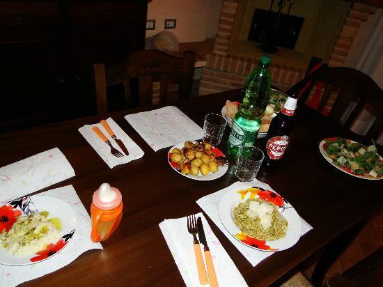 Tramonto su Assisi: la nostra cena