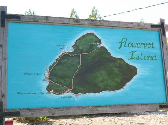 Blue Heron Cruises: Map of Island