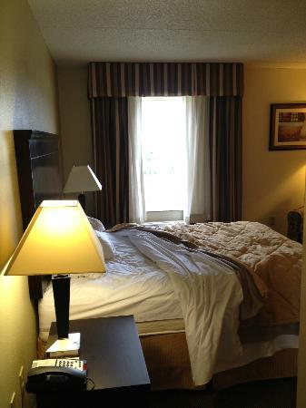 MainStay Suites Knoxville: comfy queen bed and pillows