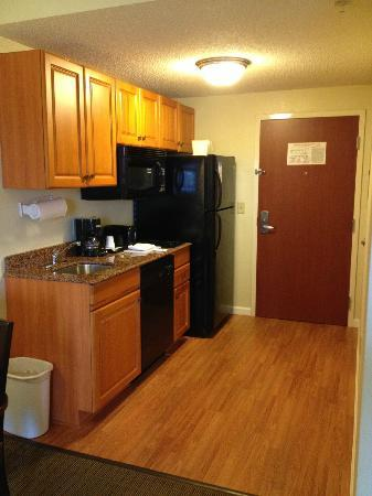 MainStay Suites: hardwood floors in Kitchen with all the comforts of home