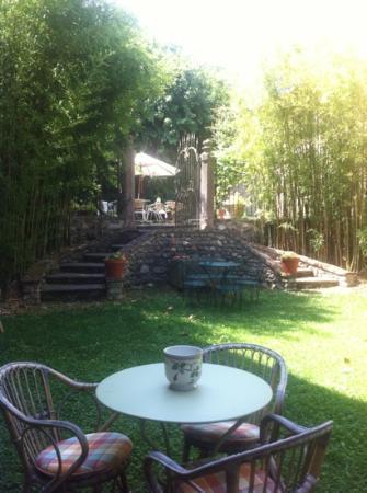 Agriturismo Solimago: Garten - Blick von der Restaurantterrasse
