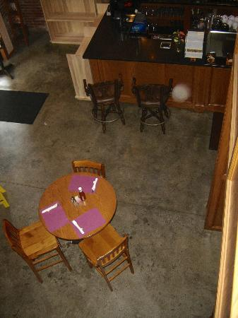 The Aud: Looking down from the cafe loft area.