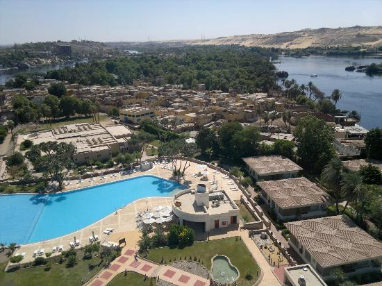 Moevenpick Resort Aswan: View from the 13th floor restaurant, of the rest of the island