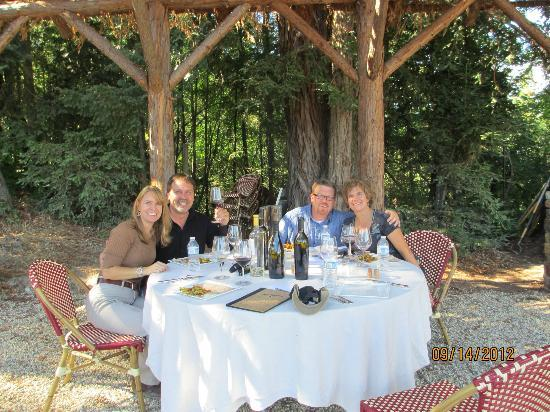 VGS Chateau Potelle : Enjoying wine and a view