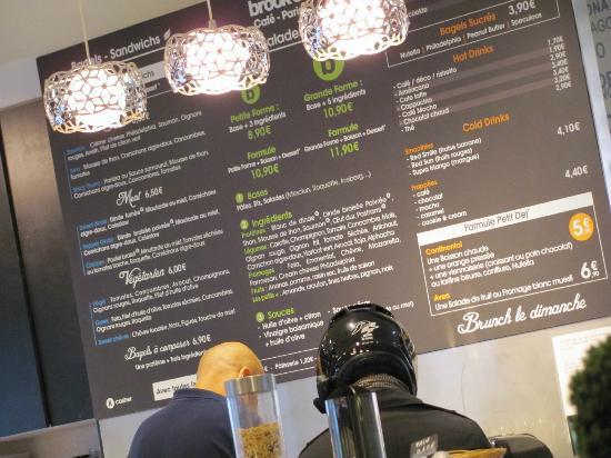 Brook's cafe : The menu